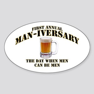 Man-iversary Oval Sticker
