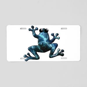 Lightning Frog Aluminum License Plate