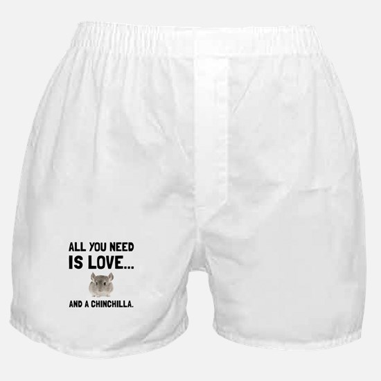 Love And A Chinchilla Boxer Shorts