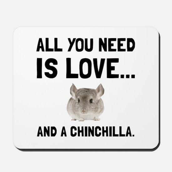Love And A Chinchilla Mousepad
