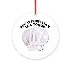 Chef's Hat Ornament (Round)