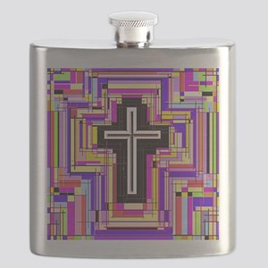 The Stained Glass Cross. Flask