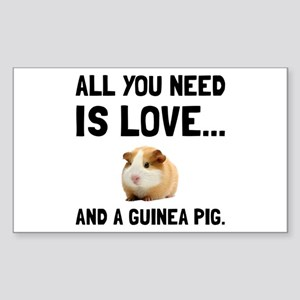 Love And A Guinea Pig Sticker