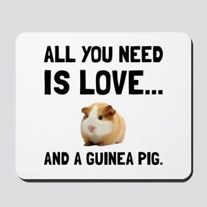 Love And A Guinea Pig Mousepad