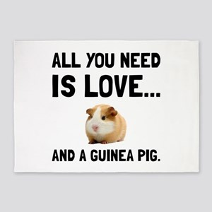 Love And A Guinea Pig 5'x7'Area Rug
