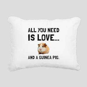 Love And A Guinea Pig Rectangular Canvas Pillow