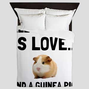 Love And A Guinea Pig Queen Duvet