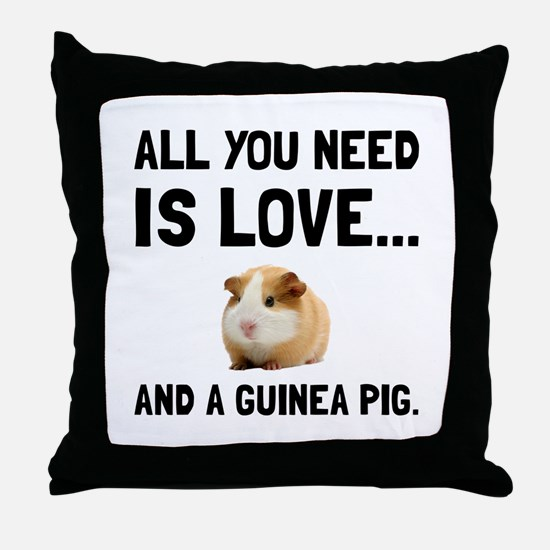 Love And A Guinea Pig Throw Pillow