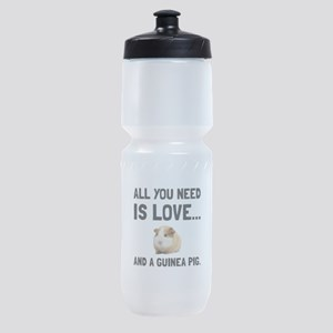 Love And A Guinea Pig Sports Bottle