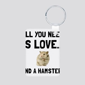 Love And A Hamster Keychains