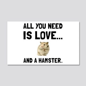 Love And A Hamster Wall Decal