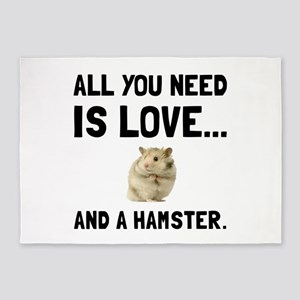 Love And A Hamster 5'x7'Area Rug