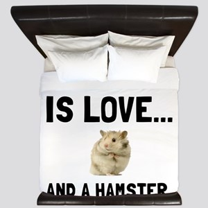 Love And A Hamster King Duvet