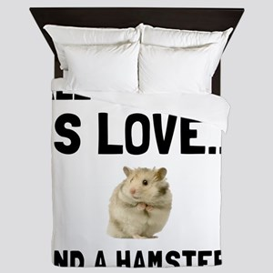 Love And A Hamster Queen Duvet