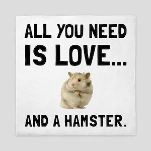 Love And A Hamster Queen Duvet