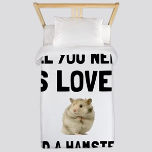 Love And A Hamster Twin Duvet