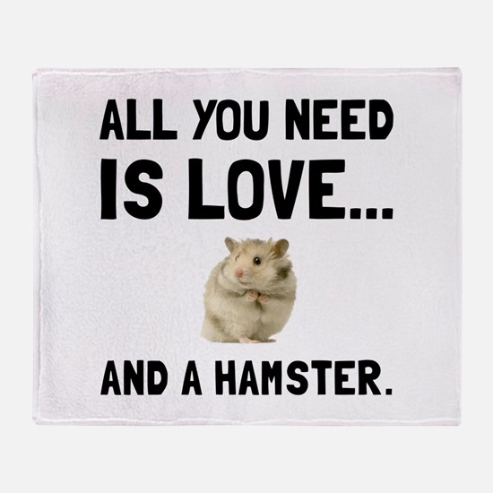 Love And A Hamster Throw Blanket
