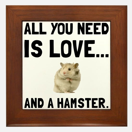 Love And A Hamster Framed Tile