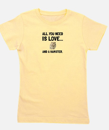 Love And A Hamster Girl's Tee