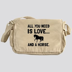 Love And A Horse Messenger Bag