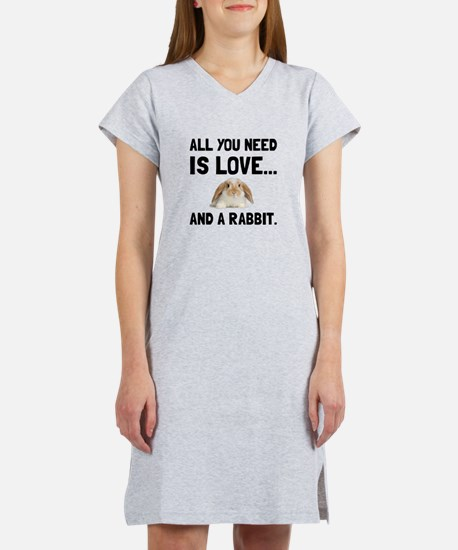 Love And A Rabbit Women's Nightshirt
