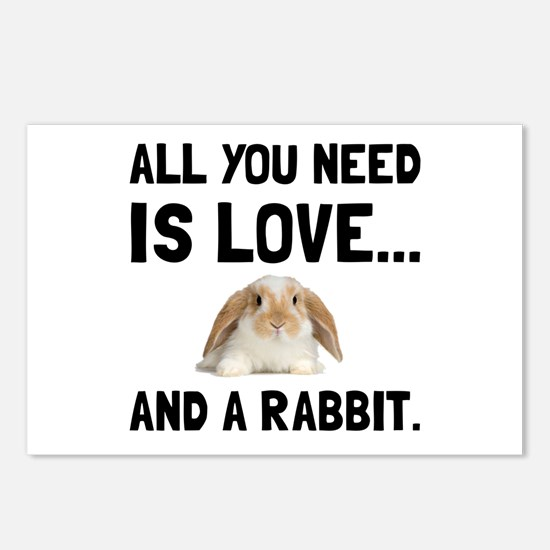 Love And A Rabbit Postcards (Package of 8)