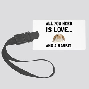 Love And A Rabbit Luggage Tag