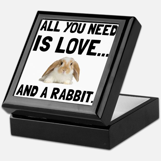 Love And A Rabbit Keepsake Box
