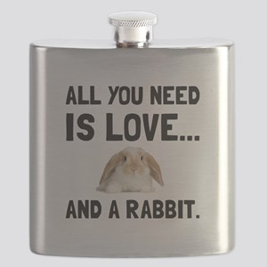 Love And A Rabbit Flask