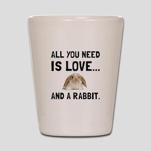 Love And A Rabbit Shot Glass
