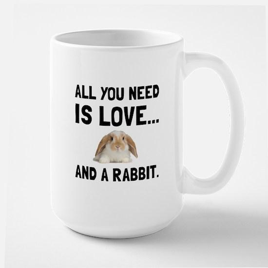 Love And A Rabbit Mugs