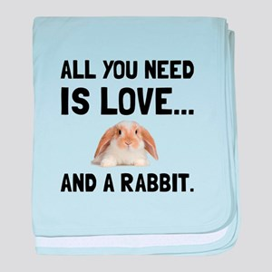 Love And A Rabbit baby blanket