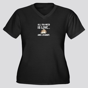 Love And A Rabbit Plus Size T-Shirt