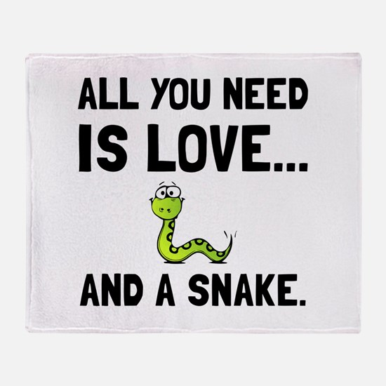 Love And A Snake Throw Blanket