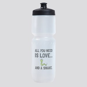 Love And A Snake Sports Bottle