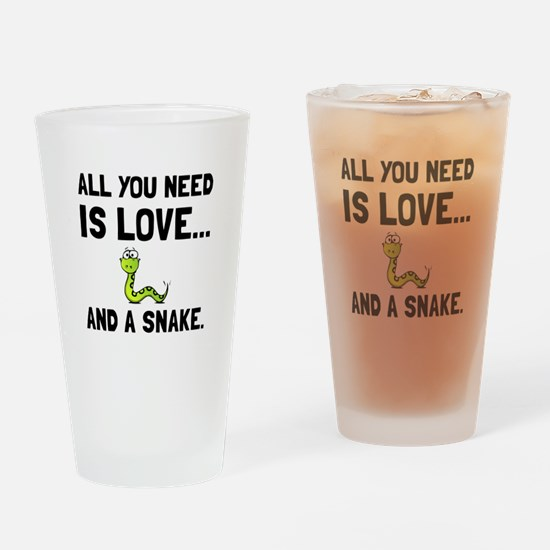 Love And A Snake Drinking Glass