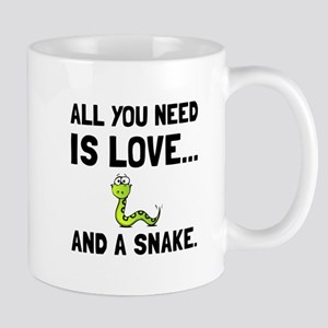 Love And A Snake Mugs