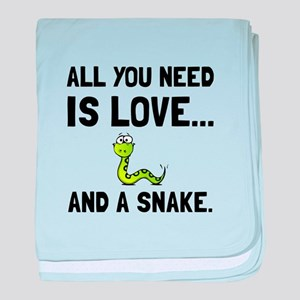 Love And A Snake baby blanket