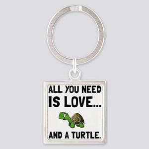 Love And A Turtle Keychains