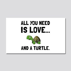 Love And A Turtle Car Magnet 20 x 12