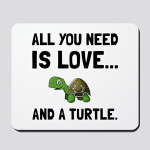 Love And A Turtle Mousepad