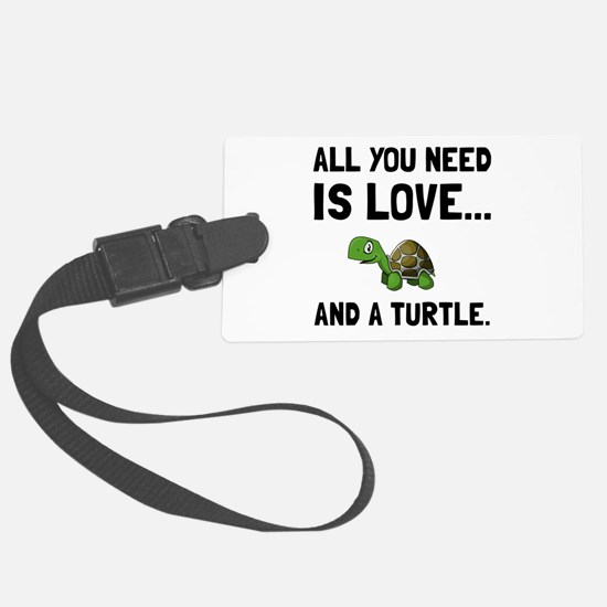 Love And A Turtle Luggage Tag