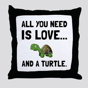 Love And A Turtle Throw Pillow