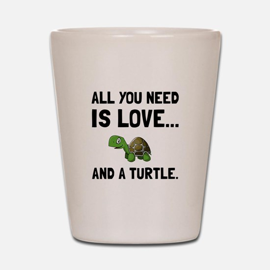 Love And A Turtle Shot Glass