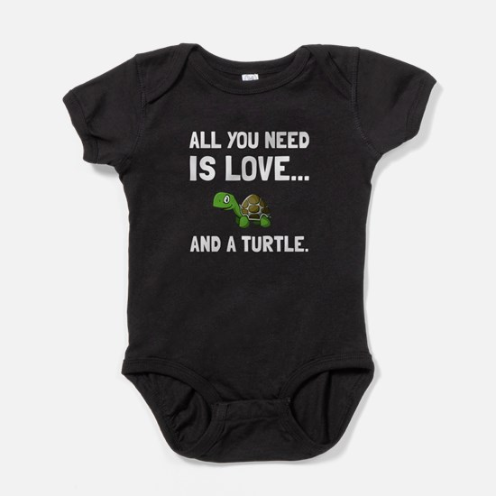 Love And A Turtle Baby Bodysuit
