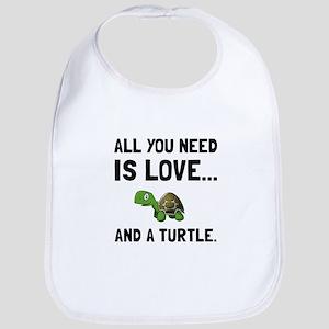 Love And A Turtle Bib