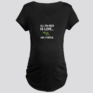 Love And A Turtle Maternity T-Shirt