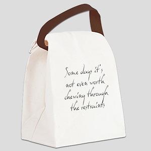 Restraints Canvas Lunch Bag