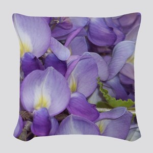 Purple Wisteria Woven Throw Pillow