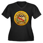 USS ALBERT D Women's Plus Size V-Neck Dark T-Shirt